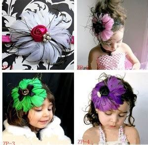 beautiful headband hairband baby flowers new style beautiful feather headband hairband baby