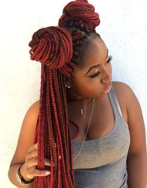 Hair Style Doll Heads With Different Colors by 17 Best Ideas About Colored Box Braids On