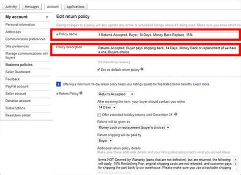 ebay return policy how to create the perfect ebay return policy to avoid