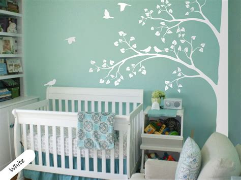 room decals white tree wall decal corner tree wall decals nursery sticker decor mural 011 ebay