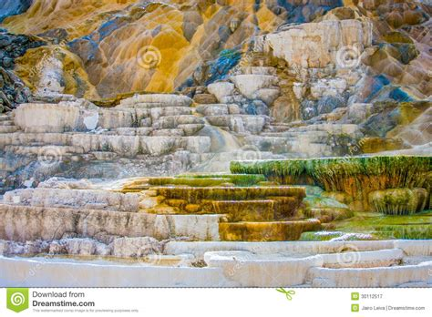 yellowstone national park natural creations the limestone royalty free stock photography image 30112517
