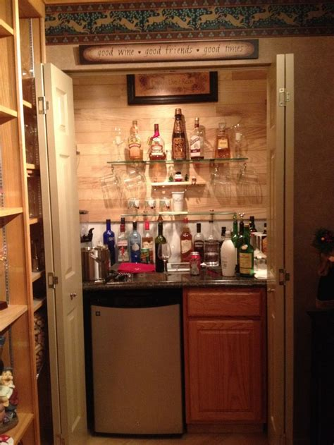 turning closet into bar the the closet into a bar home is where the heart is pinterest