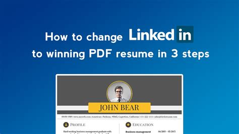 Convert Linkedin To Resume by How To Convert Linkedin Profile To Resume In Minutes