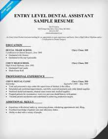 Dentist Resume Template by Entry Level Dental Assistant Resume Sle Dentist Health Student Resumecompanion