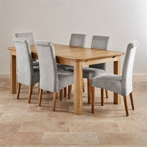Oak Dining Table Sets Edinburgh Extending Dining Set In Oak Dining Table 6 Chairs