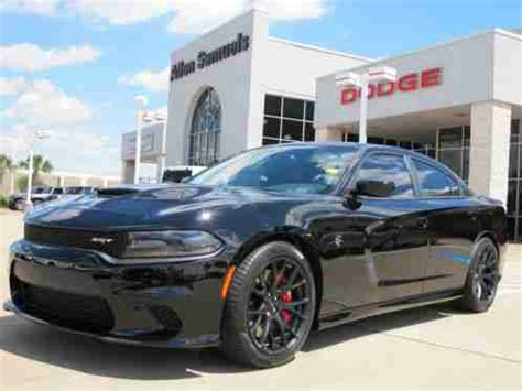 dodge charger srt hellcat triple black red seat belts  offe