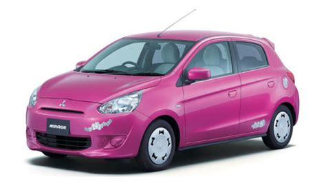 pink mitsubishi mirage hello kitty edition mitsubishi mirage is pretty damn excellent