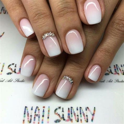 Nägel Streifen by Nails Ombre Perlen Silber Wei 223 Rosa Kurz