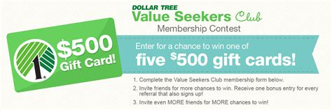 Free 500 Dollar Gift Card - 5 free 500 dollar tree gift cards mojosavings com