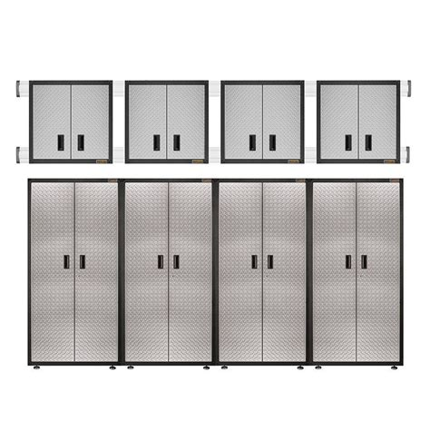 Gladiator Ready To Assemble 100 In H X 144 In W X 18 In Ready To Assemble Garage Cabinets