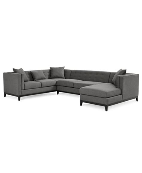 tufted sectional with chaise braylei 3 pc tufted sectional w chaise 3 toss pillows