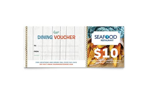 seafood restaurant gift certificate template word publisher