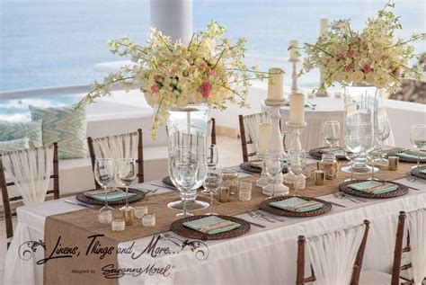 Wedding Table Setup by Table Setup Mint And White Rustic Wedding At