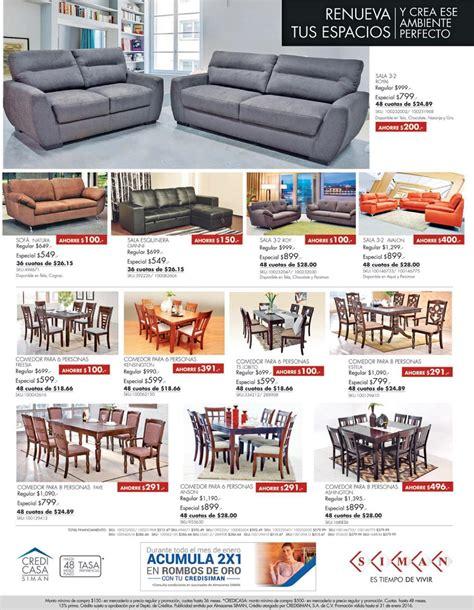 siman ofertas de muebles  comedores enero  ofertas