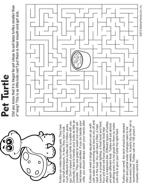 printable turtle maze 127 best images about coloring pages on pinterest