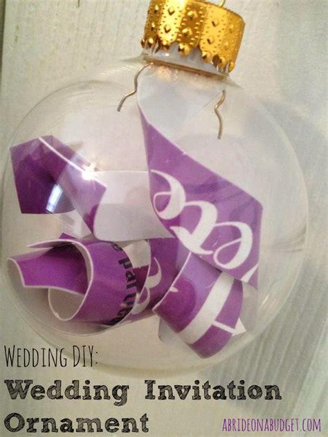 wedding invitation ornament diy diy wedding invitation ornament a on a budget