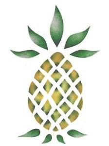 single pineapple wall stencil