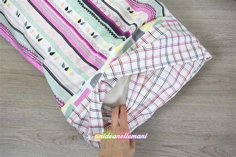 come confezionare un cuscino come cucire una federa per cuscino con chiusura a busta