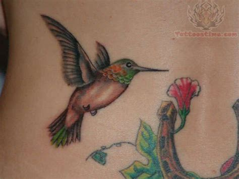 hummingbird with flower tattoo designs humming bird tattoos hummingbird with flower
