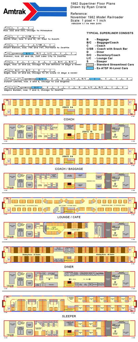 superliner floor plan amtrak superliner flooro plans 1982 diagrams drawings