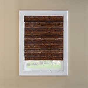 Lowes Bamboo Roman Shades - shop custom size now by levolor 36 in w x 72 in l mahogany light filtering bamboo natural roman