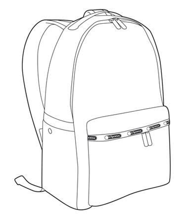 Backpack Drawing Bag Sketches Pinterest Backpack Drawing Backpacks And Drawings Backpack Design Template