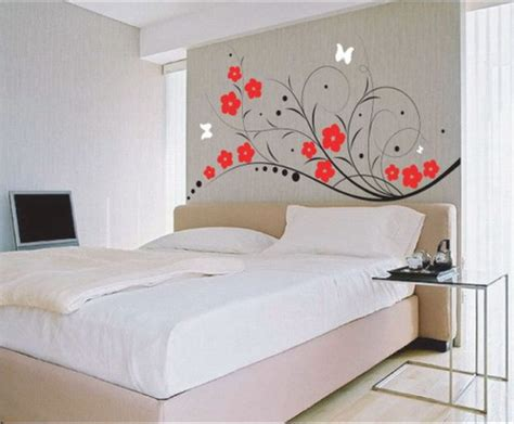 Bedroom Wall Painting Designs Home Design Exciting Bedroom Wall Decor Cool Design With Simple Black Tree Simple Wall Designs