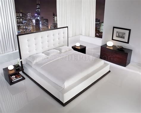 white leather bedroom sets ludlow white leather bedroom set by modloft
