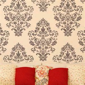 damask wallpaper home decor damask wall stencil pattern ludovica for diy home decor wallpaper look j boutique stencils