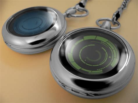 Jam Tangan Led Futuristik Modern Led Tokyoflash Kisai Rogue Touch Pocket Integrates