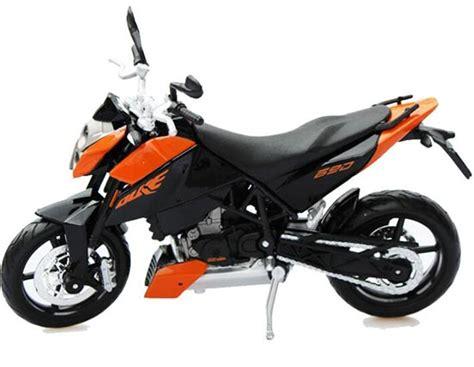 Diecast Ktm 690 Duke Maisto black orange 1 12 scale maisto diecast ktm 690 duke model