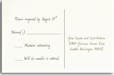 how to write a wedding response card postcard response wedding invitation reply card finishing typography wording