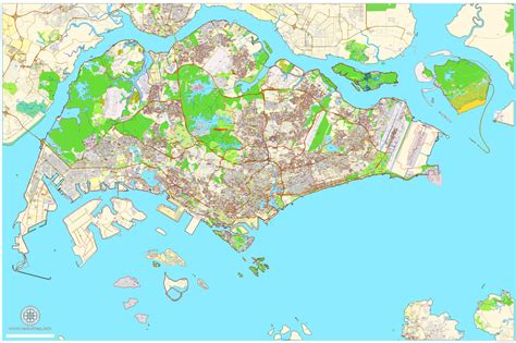 singapore on a map pdf map singapore exact city plan map editable