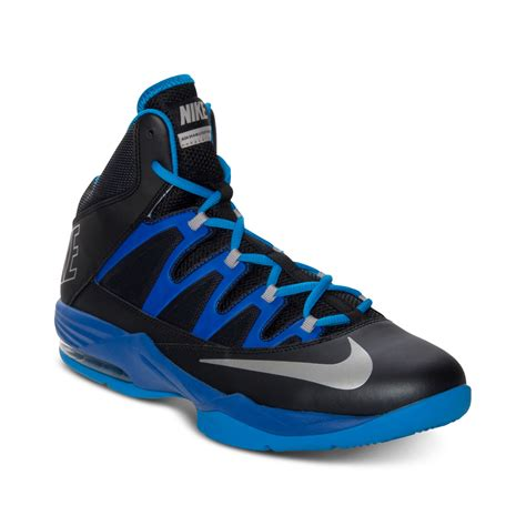 nike air max stutter step basketball sneakers in blue for