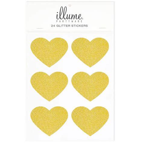 Aufkleber Gold Herz by Bakeria 24 Herz Glitter Gold Aufkleber Geschenktueten