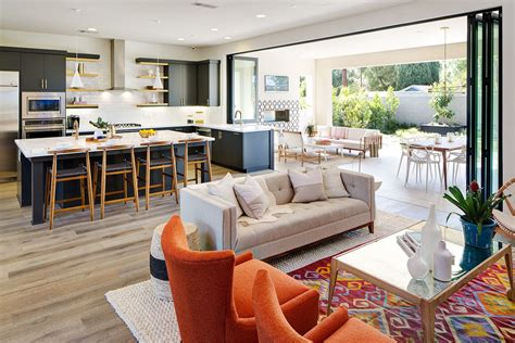 mid century modern living room enlivening  home