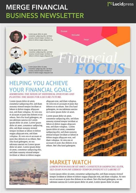 Best Financial Newsletter Templates Newsletter Design Ideas To Inspire You Lucidpress Awesome Best Newsletter Templates