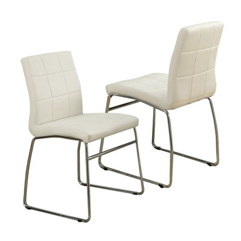 Modern Metal Dining Chairs Modern Faux Leather Casual Regular Dining Side Chair Chairs Metal Legs Set Of 2 Ebay