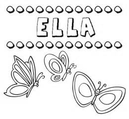 free coloring pages ella girls names