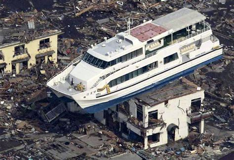 boat on building japan tsunami japan disaster 30 powerful images of the earthquake and