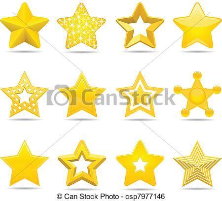 stelle clipart dodici differente stelle vettore di clip cerca