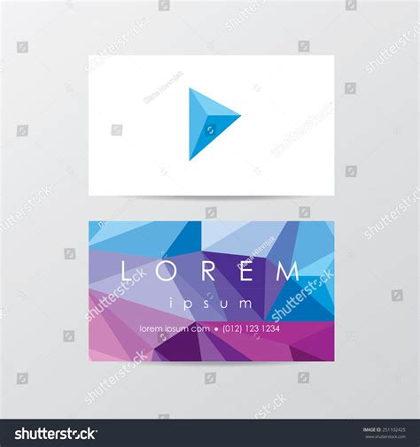 Business Cards Template On Canva Low Res by Business Card Template Mockup In Trendy Low Polygon Style