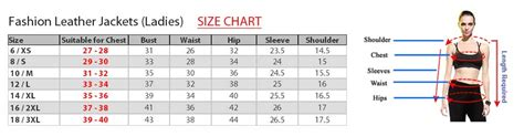 what is the measurement of a full size bed size charts for leather garments