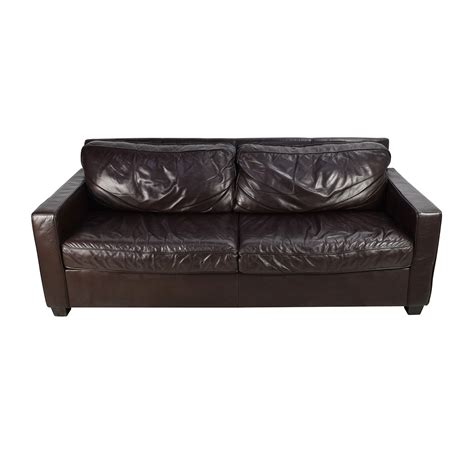 west elm leather sofa second hand leather sofas precious second hand leather