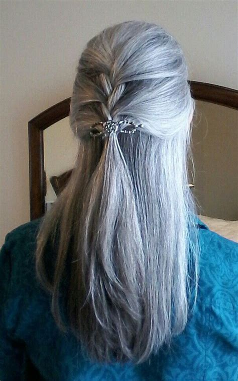 gray hair braid styles 17 best images about curly gray hair on pinterest