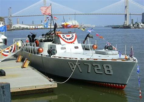 pt boat used in mchale s navy movie pt 728 touring the east coast