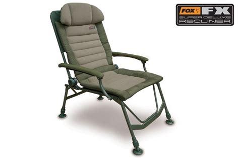 super recliner fox fx super deluxe recliner chair johnson ross tackle