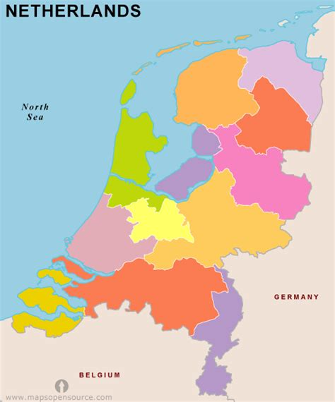 netherlands capital map netherlands map with provinces images