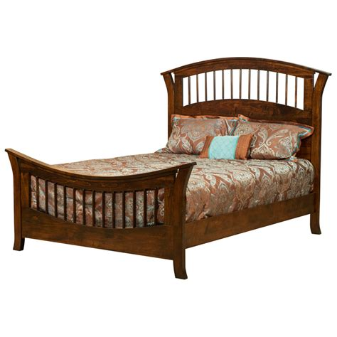 amish headboard wood spindle bed three quarter bed curly maple wooden bed