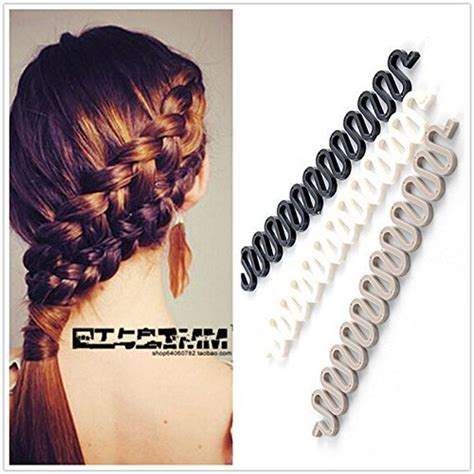 Twist Hairstyle Tools Clip Black And White 3pieces black grey white hair styling clip diy